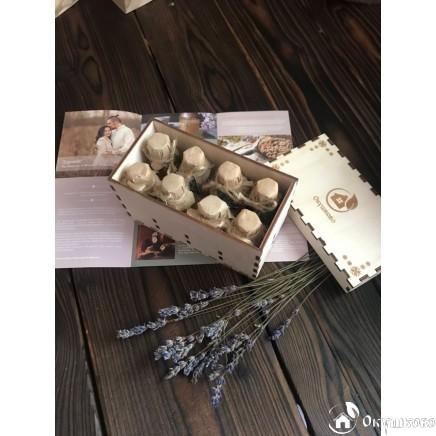 Подарочные наборы масел (фирменный пенал из фанеры) купить
